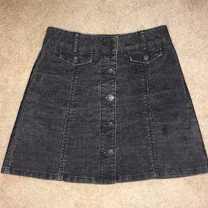 Black Corduroy high waisted jean skirt - 0
